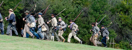 Confederate soldiers marching Stock Images