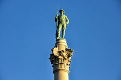 Confederate Soldiers` & Sailors` Monument. Confederate Soldiers` & Sailors` Monument. It depicts a bronze Confederate private standing on top of the pillar Stock Photo