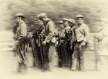 Confederate soldiers Royalty Free Stock Images