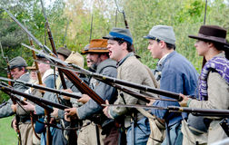 Confederate soldiers war cry Royalty Free Stock Images