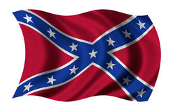 Confederate States of America. Flag of the Confederate States of America waving in the wind