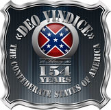 Confederate States of America Badge Royalty Free Stock Photo