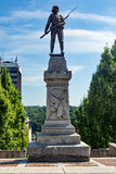 "Confederate Statue – Lynchburg, Virginia, USA. Lynchburg, VA – August 17th; The Confederate statue is located on the top of ""Monument Terrace"". It royalty free stock photo"