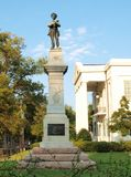 Confederate statue. Statue of confederate soldier on courthouse lawn Stock Photography
