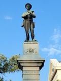 Confederate statue. Statue of confederate soldier on courthouse lawn Stock Photo