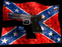 Confederated and gun Royalty Free Stock Photography