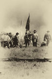 Confederates defend the flag, Royalty Free Stock Photo