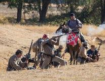 Confederates Fight Back Stock Photo