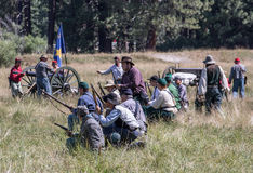 Confederates Hold the Line Stock Photo