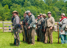 Confederates lining up Royalty Free Stock Photo