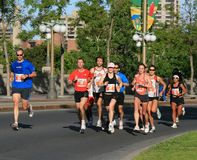 Confederation Boulevard Marathon Runners Royalty Free Stock Image