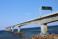 Confederation bridge. The conferderation bridge Royalty Free Stock Images