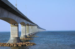 Confederation bridge. The conferderation bridge Stock Photo