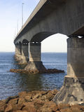 Confederation Bridge, Canada. The Confederation Bridge spanning the Northumberland Strait linking New Brunswick with Prince Edward Island, Canada Stock Photography