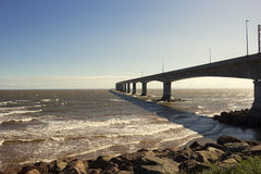 The Confederation Bridge in Canada Stock Photos