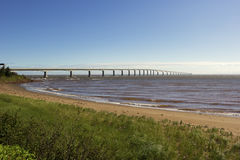 The Confederation Bridge in Canada Royalty Free Stock Images
