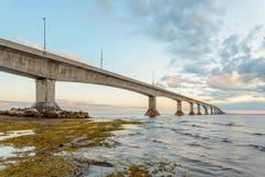 Confederation Bridge linking Prince Edward Island with mainland Stock Images