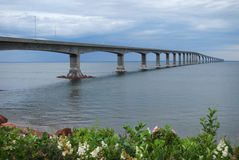 Confederation Bridge in New Brunswick Royalty Free Stock Images