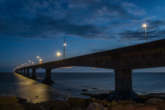 Confederation Bridge at night Royalty Free Stock Photos