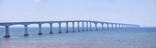 Confederation Bridge panorama Royalty Free Stock Photo