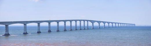 Confederation Bridge panorama Royalty Free Stock Photo