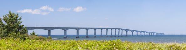 Confederation Bridge panorama Royalty Free Stock Photos