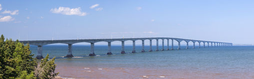 Confederation Bridge panorama Royalty Free Stock Images
