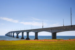 Confederation Bridge, PEI Canada. Landscape of Confederation Bridge from Borden-Carleton, Prince Edward Island, Canada Royalty Free Stock Photography