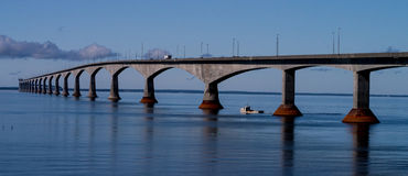 Confederation Bridge Prince Edward Island Canada Stock Image