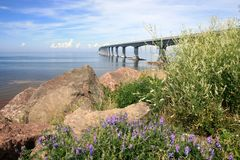 Confederation Bridge to PEI Stock Images