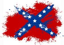 Confederation grunge flag Stock Image