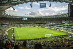Confederations Cup 2013 - Brazil x Uruguay - Minerao Stadium Royalty Free Stock Photos