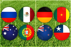 Confederations Cup countries Stock Photography