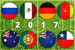 Confederations Cup countries Stock Image