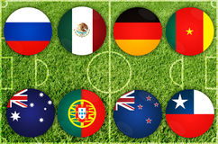 Confederations Cup countries Royalty Free Stock Images