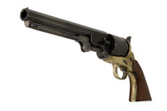 Confederato 1851 .44 pistola de la marina del calibre dejada fotografía de archivo libre de regalías