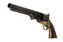 Confederato 1851 .44 pistole del blu marino di calibro lasciate Fotografia Stock Libera da Diritti