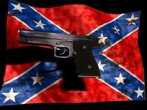 Confederato e pistola Fotografia Stock Libera da Diritti