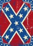 Confederatre grungebakgrund Royaltyfri Bild