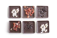 Confeitos do chocolate da variedade imagens de stock