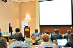 Conferência, apresentação no auditório Imagens de Stock
