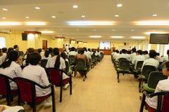 Conferência da escola & da colagem Foto de Stock Royalty Free
