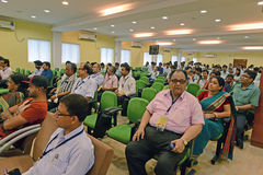 Conferência da escola & da colagem Fotografia de Stock Royalty Free
