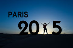 Conferência 2015 das alterações climáticas de Paris Fotografia de Stock