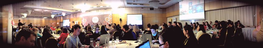 Conferência de Foodbloggers, Bucareste Romênia 2014 Foto de Stock