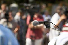 Conferência de imprensa fotos de stock royalty free