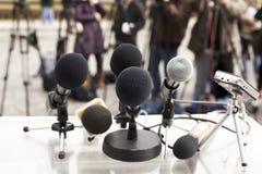 Conferência de imprensa Foto de Stock