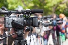 Conferência de imprensa imagens de stock