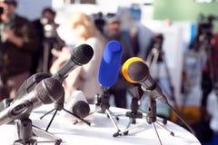 Conferência de imprensa fotografia de stock royalty free
