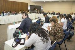 Conferência de imprensa imagens de stock royalty free